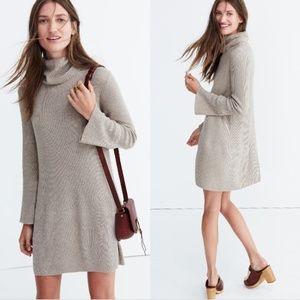 Madewell Bell Sleeve Turtleneck Sweater Dress